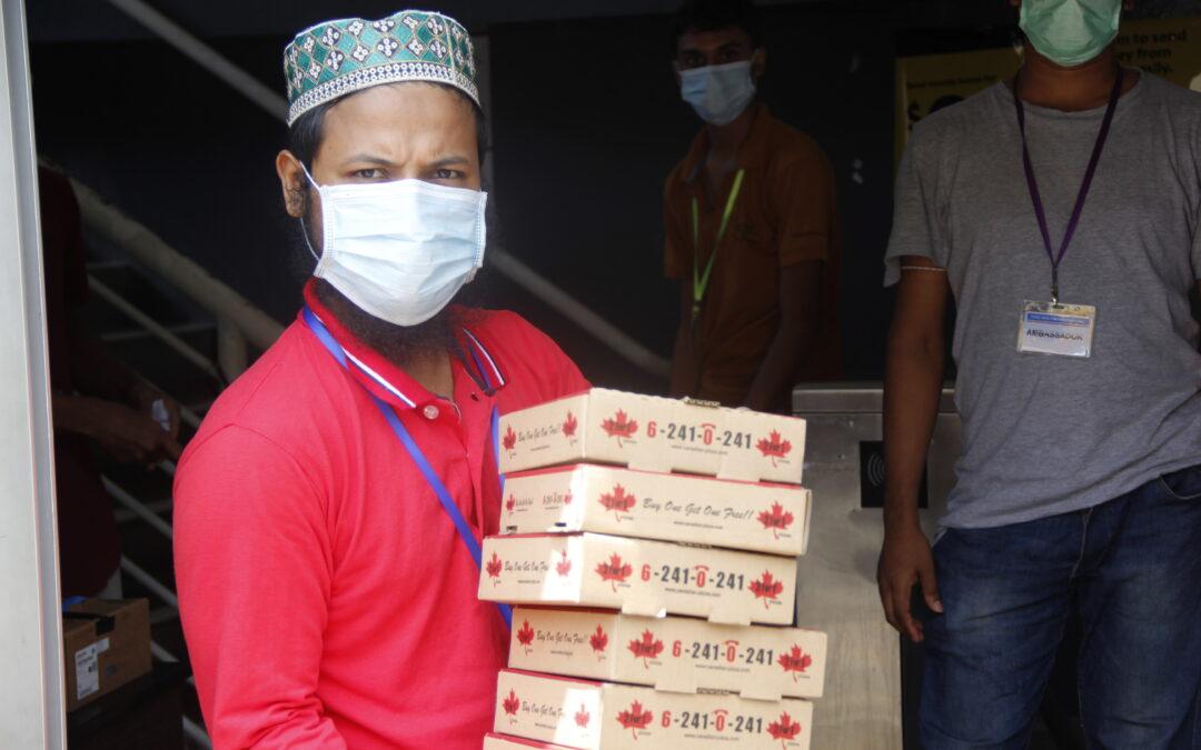 BERITA mediacorp, 6 Aug 2020: Muhammadiyah galak rai Hari Kebangsaan sambil beri penghargaan kepada 1,000 pekerja asing